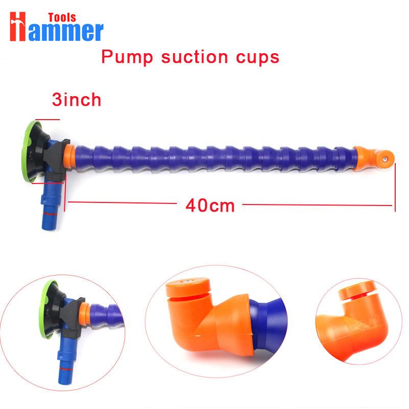 3inch Heavy Duty Hand Pump Suction Cup with flexible stand for PDR light