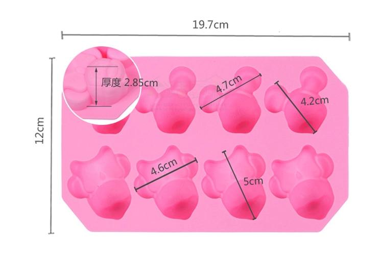 8 Fach Mickey Minnie Maus Form Silikonform Handgeschopfte Schokolade