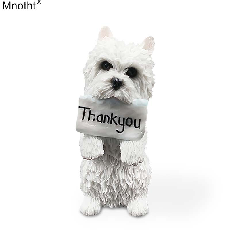 Mnotht Mini Animal Toy 1/6 West Highland Terrier Standure Posure - Խաղային արձանիկներ - Լուսանկար 1