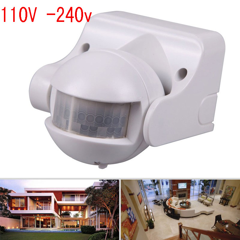 110-240V 50Hz 180 Degree Outdoor Security PIR Infrared Motion Sensor Detector Movement Switch 12 Meter Free Shipping(1pc CM029 180 degree outdoor security pir infrared motion sensor detector movement switch new arrival