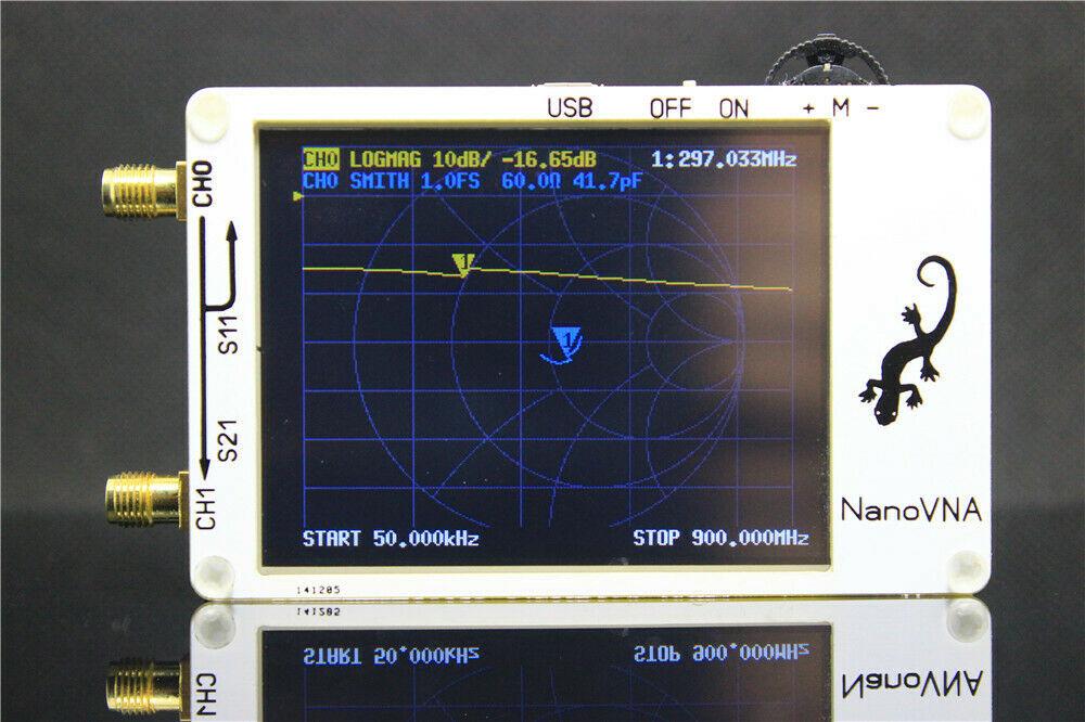 2.8 pouces LCD NanoVNA VNA HF VHF UHF UV vecteur analyseur d'antenne analyseur de réseau + logiciel PC + batterie