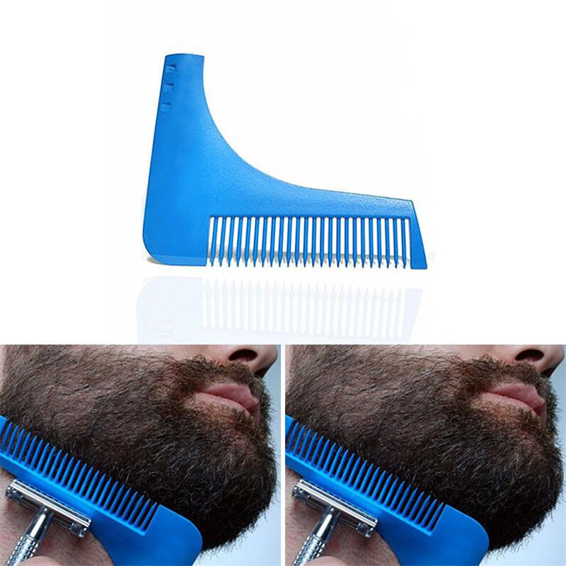 Купить с кэшбэком 1 piece Men Facial Shave Shaping styling Shower Salon Beard Shaving comb care brush Tool