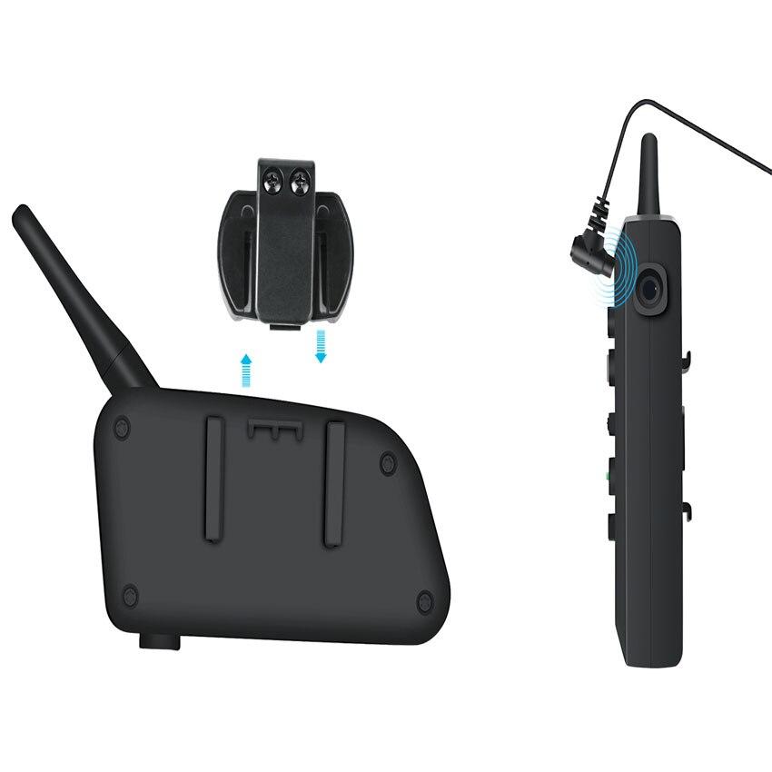 VNETPHONE 1200M 1Pcs Wireless Bluetooth Motorcycle Helmet Intercom 6 Riders Interphone Headset Support Mp3 Intercomunicador Moto