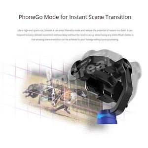 Image 4 - Zhiyun חלק 4 3 ציר חכם כף Gimbal מייצב משקל נגד & רחב זווית עדשת מאקרו עבור iPhone XS מקסימום X 8 7 S9 S8