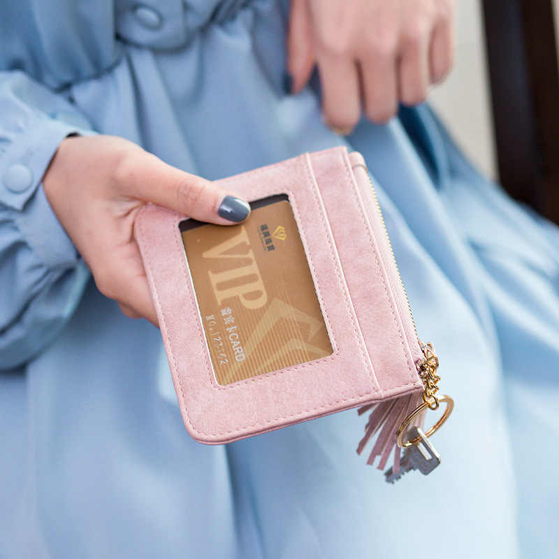 Wanita Koin Dompet Pendek Mahasiswa Lucu Tas Koin Mini Dompet Kecil Gantungan Kunci Tas Kecil Koin Dompet Porte Monnaie Femme