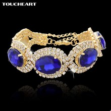 TOUCHEART Famous Brand Bracelets For Women Crystal Gold color Bracelets Best Friend Jewelry Nomiantion 2018 Pulseras SBR140397(China)