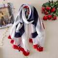 180x90 Airplane Silk Scarf Brand Women Fashion Shawl Large Blanket Scarves Foulard Femme Hot [1617]