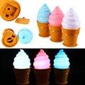 Novidade Criativa Ice Cream Cone Em Forma de Luz Da Noite LEVOU Alimentado Por Bateria lâmpada de Mesa Lâmpada de Mesa Para O Quarto Dos Miúdos Das Crianças Do Bebê Nightlight