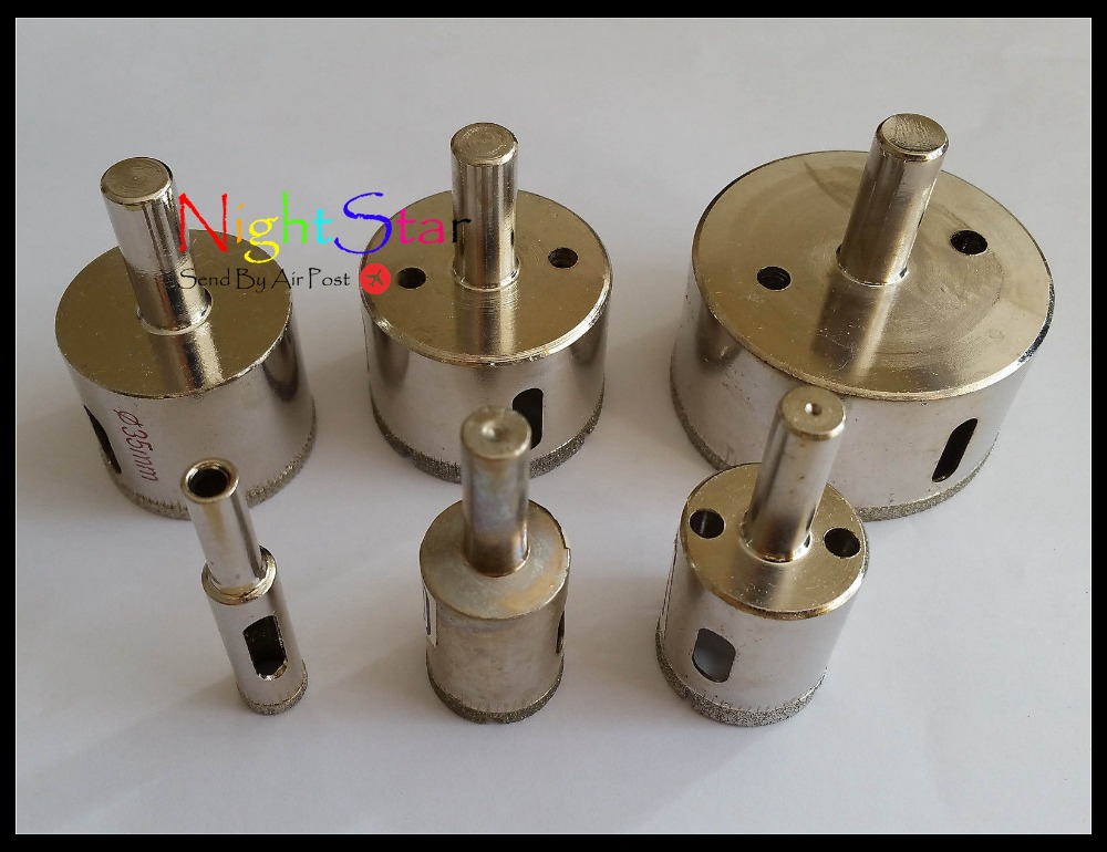 10mm Diamond Coated Core Drill Bit Tile Marble Glass Ceramic Hole Saw /1 Pcs punch 10 mm nickel plating glass drill bit marble ceramic tile x 6