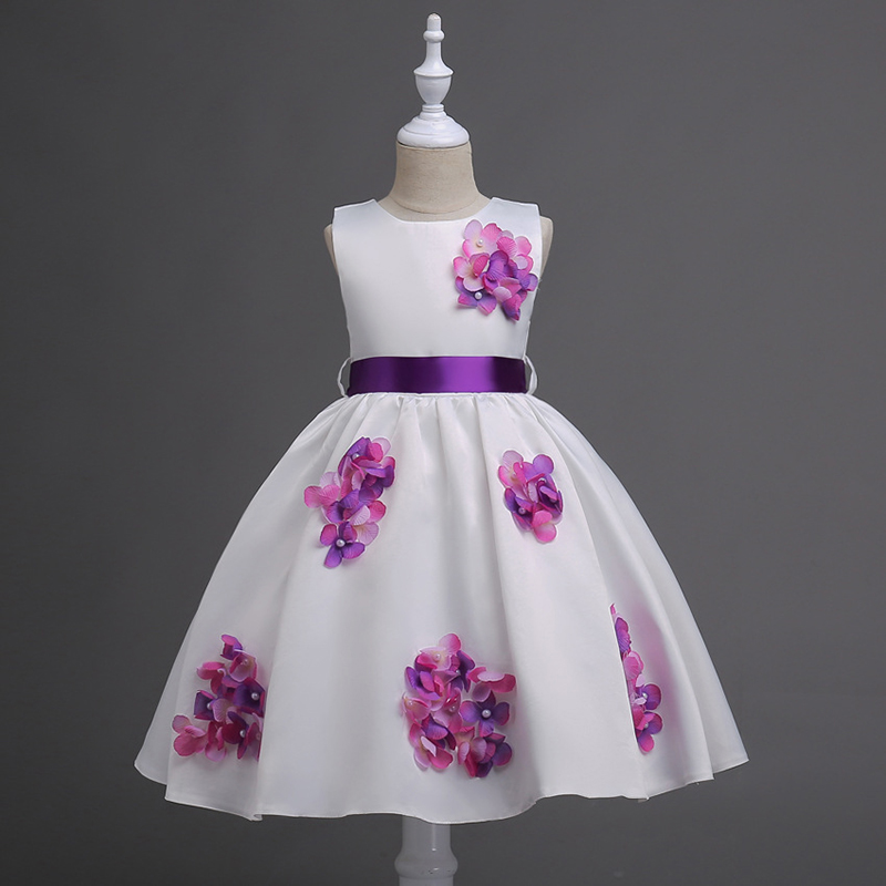 цена на New Flower Girls Party Dress Embroidered Formal Bridesmaid Wedding Girl Christmas Princess Ball Gown Kids Vestido