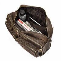 Универсальный Crazy Horse кожа человек портфели кожа сумка для путешествий Винтаж из коровьей кожи деловая сумка для ноутбука Tote Мода