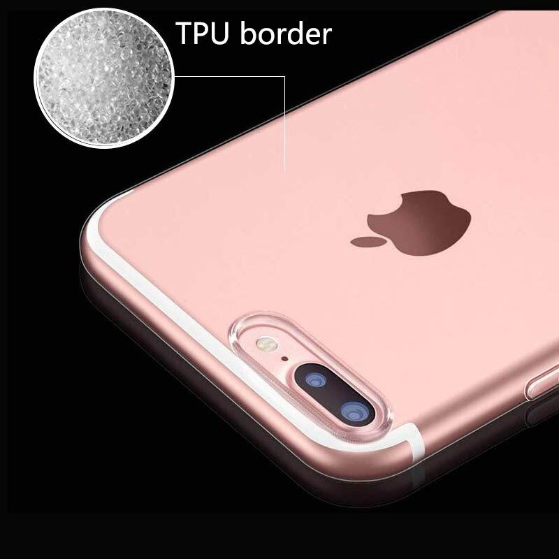 Slim Crystal Clear tas ponsel kasus Untuk iPhone 7 Kasus TISKE - Aksesori dan suku cadang ponsel - Foto 3