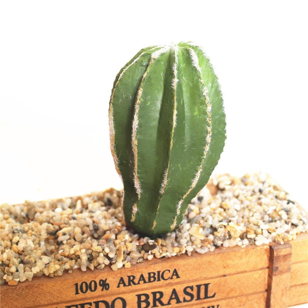 Greatest 6Pcs/Set Artificial Cactus Decor Faux Plastic Succulents Plants  RX75