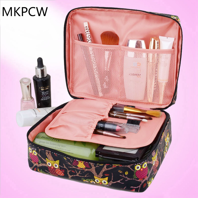 2017 New Upgrade Neceser Pu Zipper Korean Luxury Man Women Makeup Cosmetic Make Up Organizer Beauty Toiletry Bag Travel Case