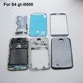 Универсальный Полный Крышку Корпуса Рамка Ближний Шасси Задняя Дверь Чехол + Переднее Стекло Экрана для Samsung Galaxy S4 i9500