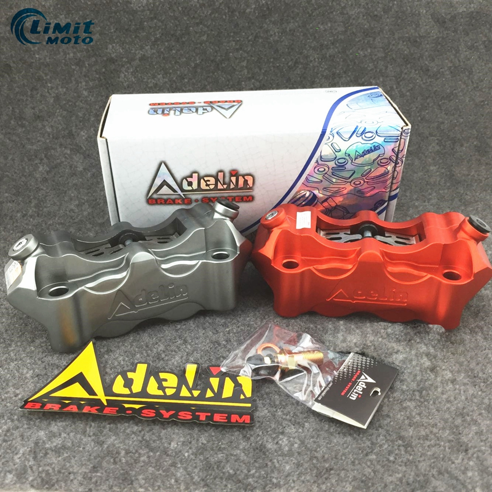 Motorcycle Adelin ADL 12 Brake Caliper For Hydraulic Disc Brake 4 Pistons 100MM Cnc Aluminum Workmanship