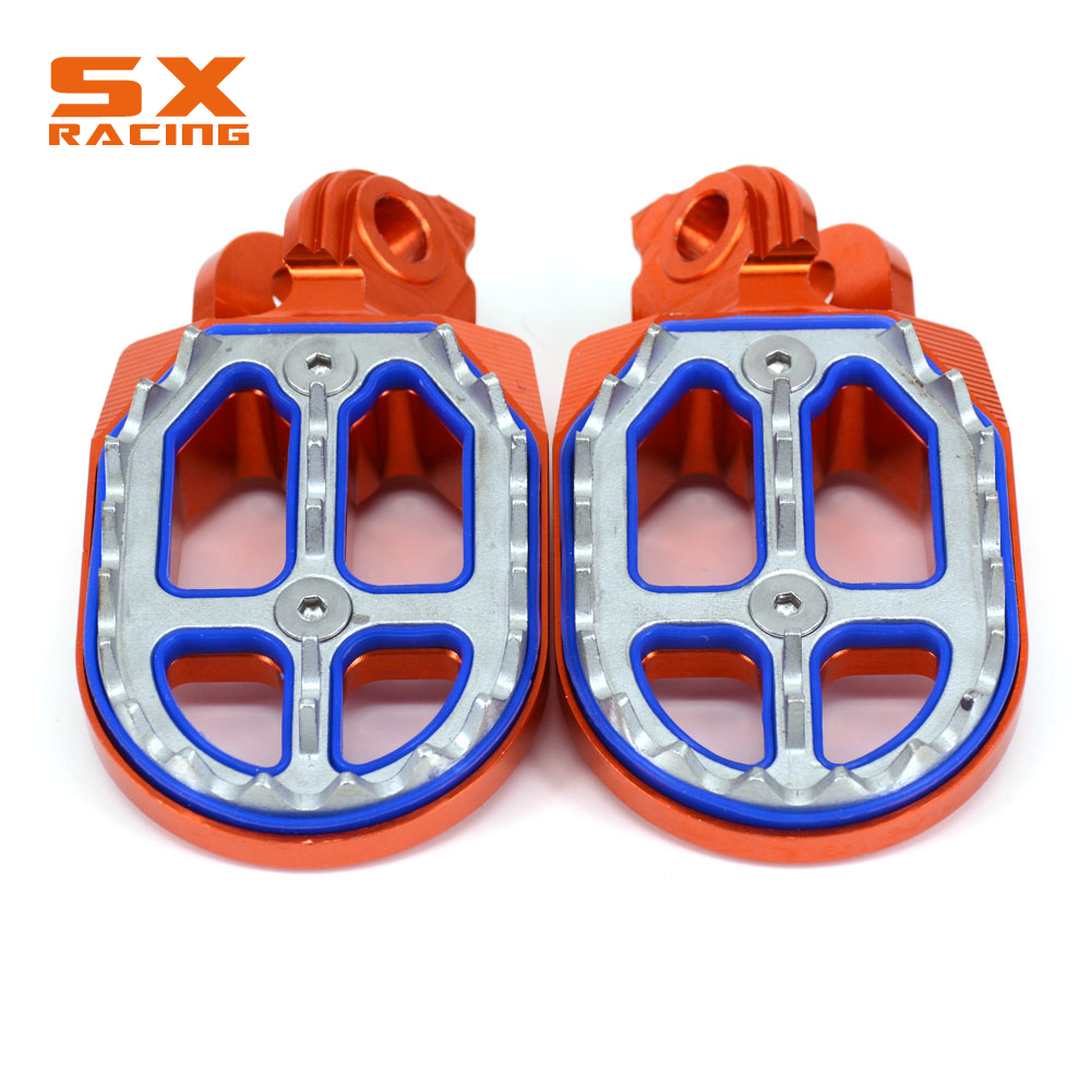 Motorcycle Aluminum Foot Pegs Footpeg Pedals FootRest For KTM SX SXF EXC EXCF XC XCF XCW