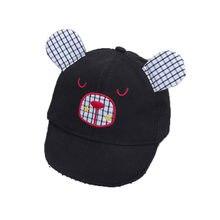 2018 Unisex gorra de béisbol Infantil Niño bebé oso a cuadros diseño  ajustable Soft Brim sombrero de béisbol de dibujos animados. 87f6bacb45b