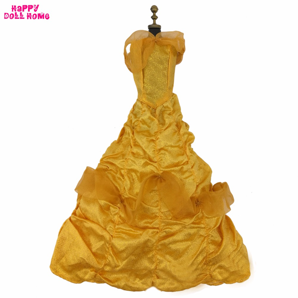 Fairy Tale Princess Dress Copy Bella Costume Wedding Party Gown Golden Cosplay Clothes For 17 Doll Dollhouse Accessories Gift статуэтка fairy tale