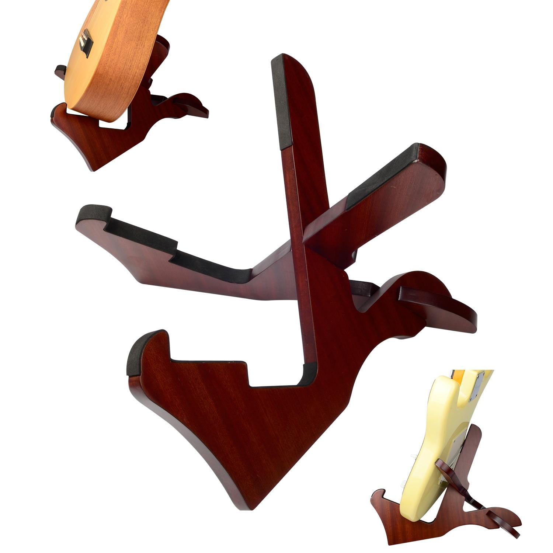 Amumu Wood Guitar Stand Removable Frame Floor Rack Holder For Electric Acoustic Guitar and Bass WS10 folding a frame electric guitar floor stand holder acoustic guitar electric guitar bass floor rack holder promotion