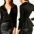 Moda mulheres bussiness blazer terno manga comprida único botão Ruched desgaste do escritório femme magro peplum blazer tamanho S-XL