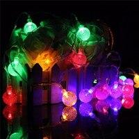 Waterproof 6 35M Solar Power Multicolor 30 LED String Light Christmas Festival Ambience Led Fairy Light