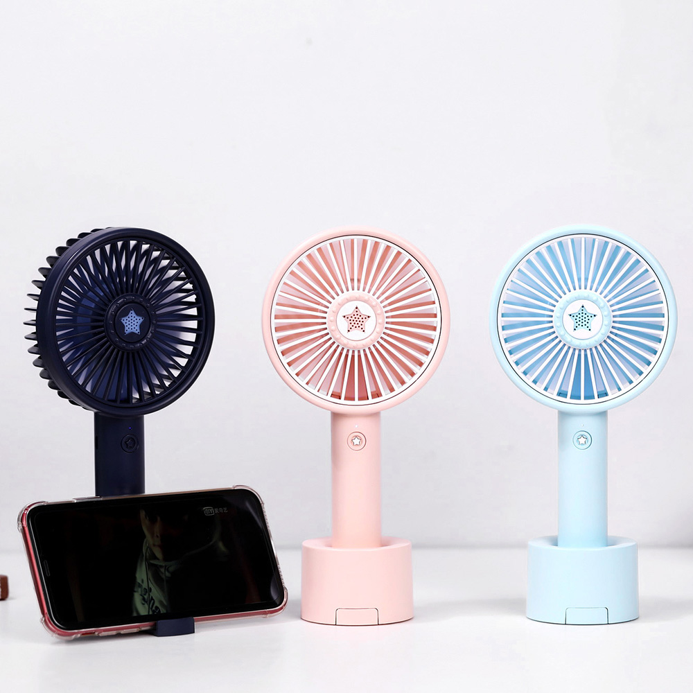 Mini Pocket Fan,USB Rechargeable Fan,Handheld Air Cooler Fan with Built-in Battery for Classroom//Office//Outdoor Traveling C