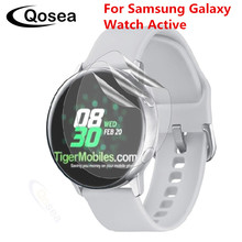 Qosea (3 PACK) New For Samsung Galaxy Watch Active Screen Protector Clear LCD Guard Shield Skin For Gear Sport Protective Flim 3pcs protective flim screen protector ultra thin clear lcd guard shield cover skin for samsung galaxy fit fit e bracelet tools