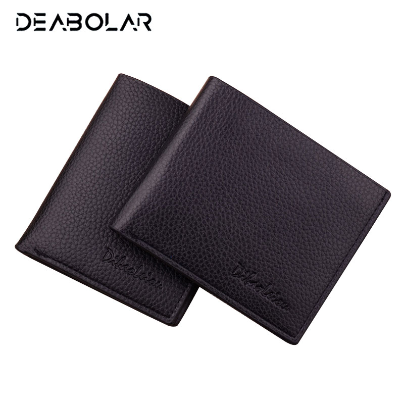 2017 Fashion Simple Classic Men's Brand Leather Wallet with Card Holder Male Cheap Carteras Purses Wallets for Men men s short leather wallets male famous brand business purses with card holder wallet for men