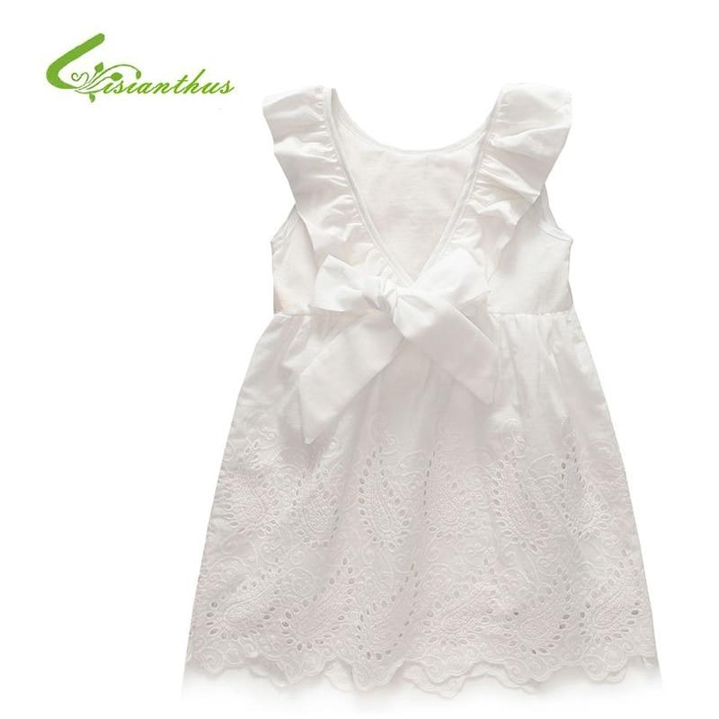 Girl Dress Princess Costume 2017 Brand Silk Chiffon Kids Clothes Girls Dresses Leopard Print White Children Dress Free shipping