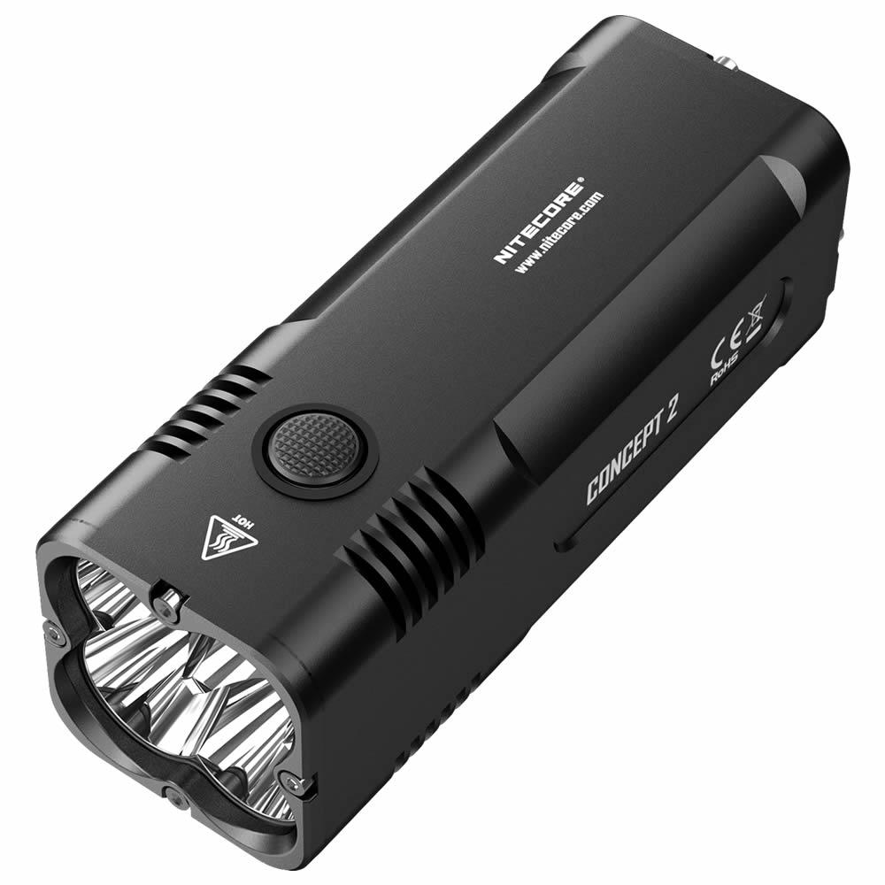 NITECORE Concept 2 C2 Rechargeable Flashlight max 6500 Lumen 4 x CREE XHP35 HD beam 398