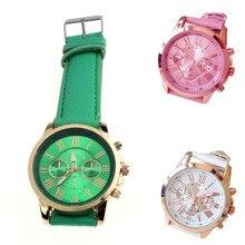 Women's Roman Numerals Faux Leather Analog Quartz Wrist Watch Stylish Unique Design Simple Style Ladies Watch A10
