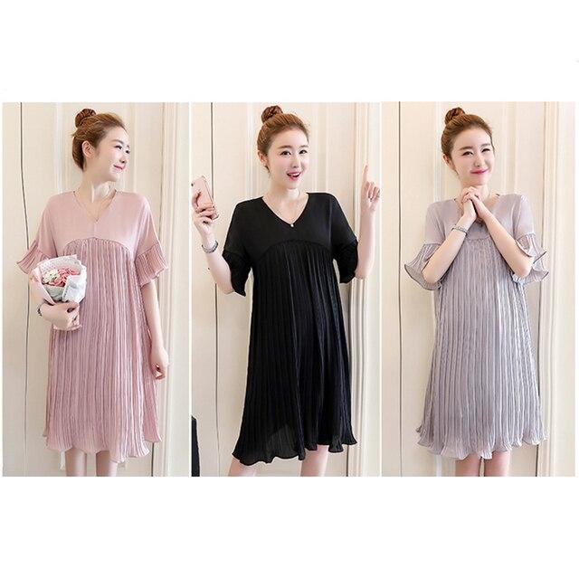 Plus Size Maternity Dresses Clothing Pregnancy Women s Dress Pregnant Dress  For Home Nursing Mother Breastfeeding Dress Elegant 957a2d0c2621