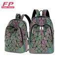 Новый женский рюкзак Геометрическая складная сумка маленькие школьные сумки для подростков девочек светящиеся рюкзаки голограмма Повседн...