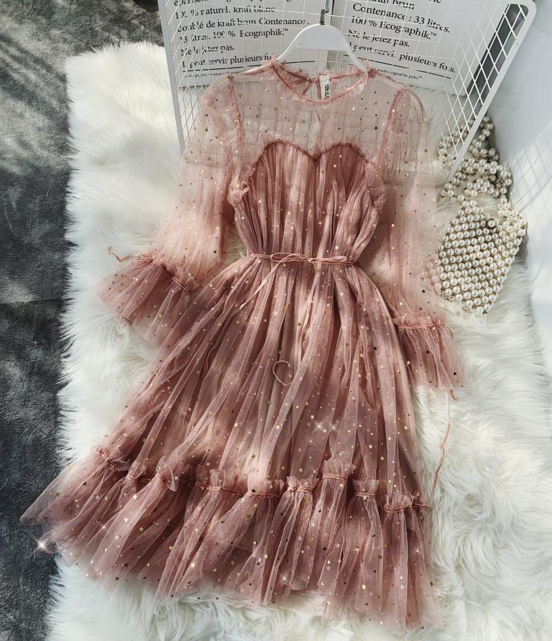 Gauze Two Piece Midi Dress 29