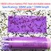 100 Cái/lốc 1 Mục 18650 Pin Lithium, Nhựa PVC Màng Co, Pin Da Thu Nhỏ Bọc, Thu Nhỏ, mờ Xanh 30 Mm