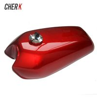 Cherk Motorcycle 9L Red Gal Cafe Racer Gas Capacity Tank Universal Fuel Tank Thick Iron Cap Switch For Honda CG125 CG125S CG250