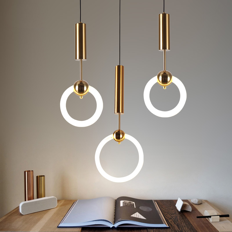 Postmodern led Pendant Light Simple Restaurant Living Room Pendant Lamp Nordic Personality Light led Round Bedroom Hang Lighting