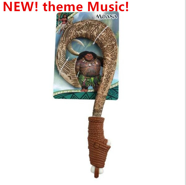 Movie Moana Waialiki Maui Heihei ABS weapons light sound saber fishing hook Action Figures Moana Adventure Toy lightsaber Gifts gonlei moana waialiki maui heihei abs weapons light sound saber fishing action figures moana adventure abs toy lightsaber gift