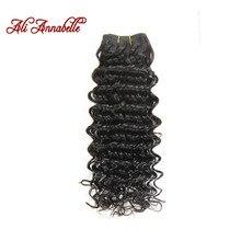 ALI ANNABELLE Brazilian Deep Wave Hair Natural Color Human Hair Bundles 10″-28″ 100% Remy Hair Bundles Free Shipping