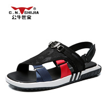 G.N. SHI JIA 2017 New Fashion Breathable Light Mesh Rubber Sole Men's Sandals Mixed Color Cross-tied Comfortable Shoes 888405