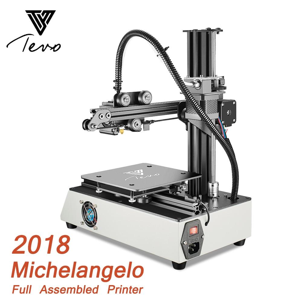 2018 Newest TEVO Michelangelo 3D Printer Impresora 3D Fully Assembled 3D Printer Kit Full Aluminum Frame Titan Extruder цена