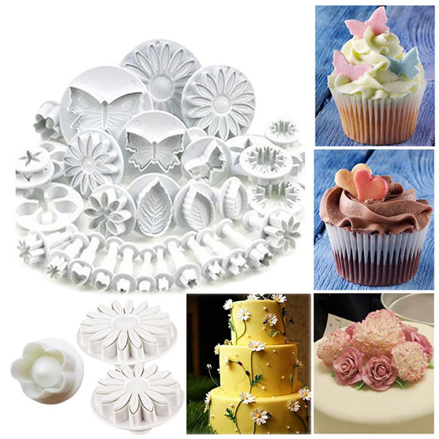 Cake Decorating Tools Fondant Plunger Cutters