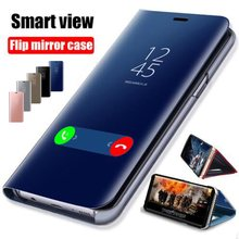Smart Mirror Flip Case For Huawei Honor 8X 7A 7C 8A 9 10 P20 P30 Y5 Y6 Y7 Y9 2018 Mate 20 Lite Pro Nova 3 3i 4 P Smart 2019 Case(China)