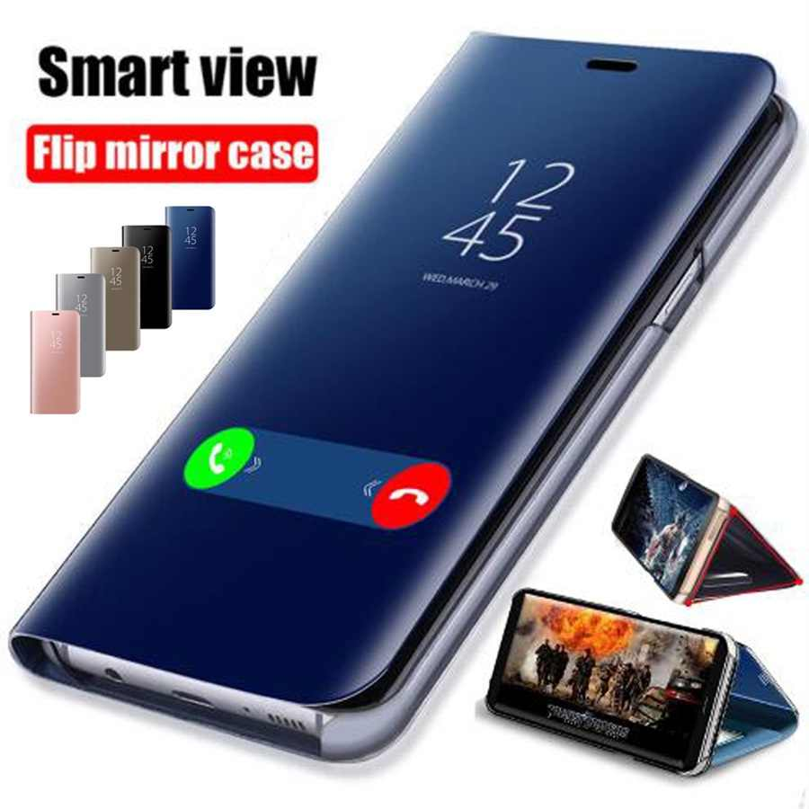 Smart Mirror Flip Case For Huawei Honor 8X 7A 7C 8A 9 10 P20 P30 Y5 Y6 Y7 Y9 2018 Mate 20 Lite Pro Nova 3 3i 4 P Smart 2019 Case