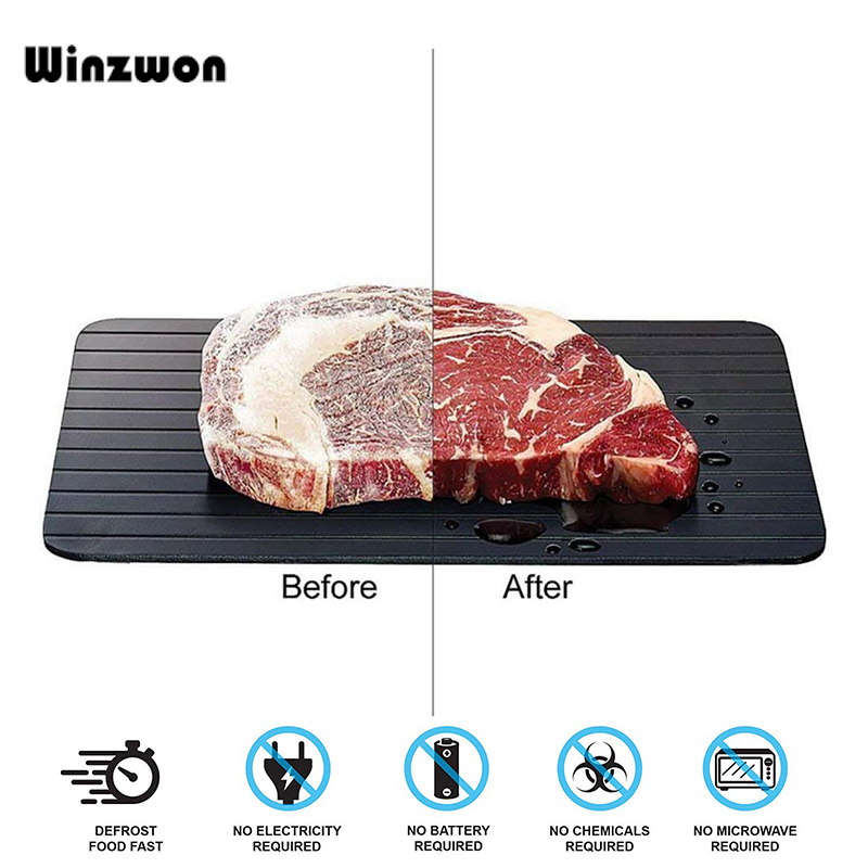 3MM Rapid Defrosting Plate Board Frozen Food Meat Fish Fruit Fast Defrosting Tray Safety Thawing Tray For Kitchen Food Defrost