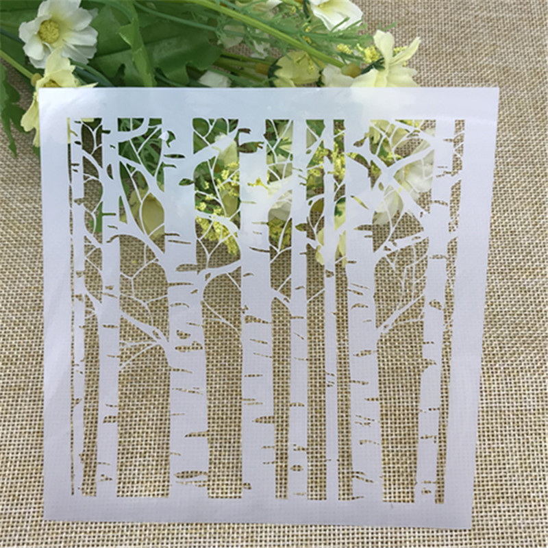 1 Sheet White Birch Layering Stencils For DIY Scrapbooking/photo Album Decorative Embossing DIY Paper Cards Crafts