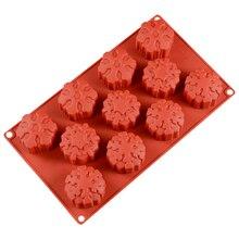 3D силиконовая форма для мыла, снежинка, мусс, форма для торта, сделай сам, ручной работы, инструмент для выпечки, Рождество, Год, украшение для праздника, бренд