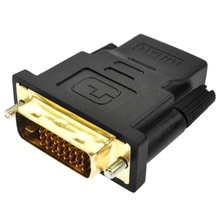 New DVI 24+1 Pin To HDMI Adapter Converter Gold Plated Male DVI 24+1 To Female HDMI Converter 1080P For PC PS3 Projector HDTV