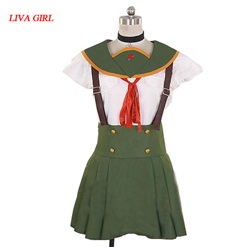 2017 Gakkou Gurashi School Live Kurumi Ebisuzawa Cosplay Costume Full Set All Size Custom Made